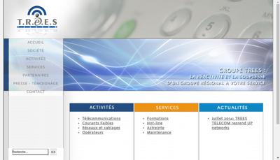 Capture d'écran du site de TREES Telecom