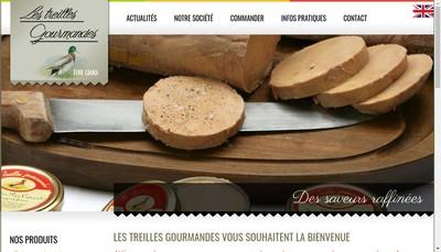Site internet de Les Treilles Gourmandes