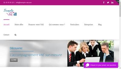 Site internet de Tremplin Vae