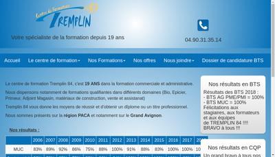 Site internet de Tremplin 84