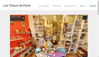 Site internet de Les Tresors de Perse