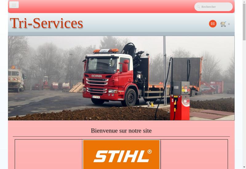 Capture d'écran du site de Tri Services Locations