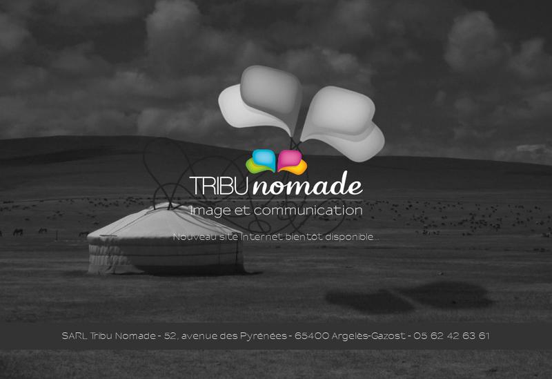 Capture d'écran du site de Tribu Nomade