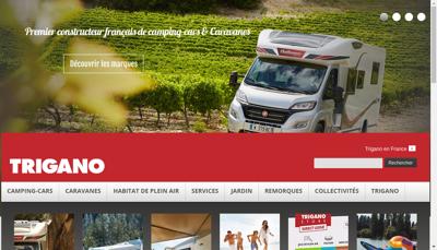 Capture d'écran du site de Trigano Service