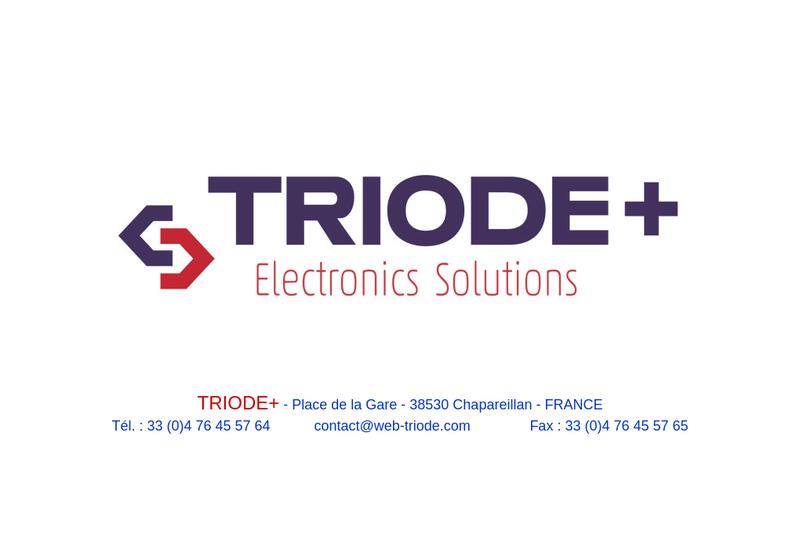 Capture d'écran du site de SARL Triode +