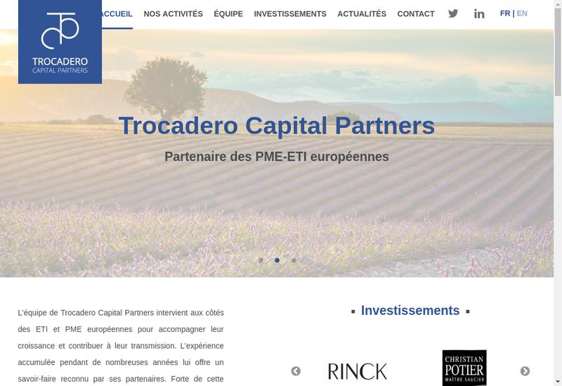 Capture d'écran du site de Trocadero Invest