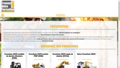 Site internet de Trouvez Votre Formation.com