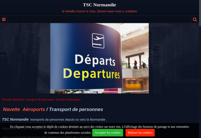 Capture d'écran du site de Tsc Normandie