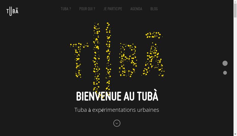 Capture d'écran du site de TUBA