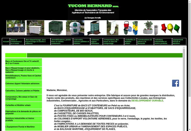 Capture d'écran du site de Tucom Bernard Sarl