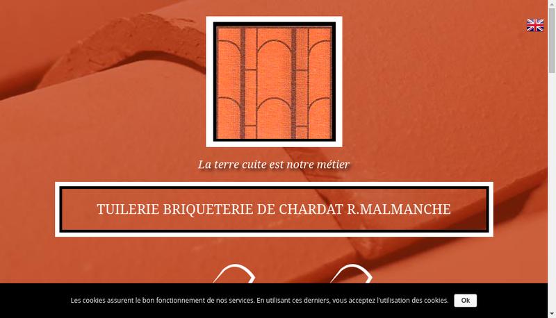 Capture d'écran du site de Tuilerie Briq Chardat R Malmanche