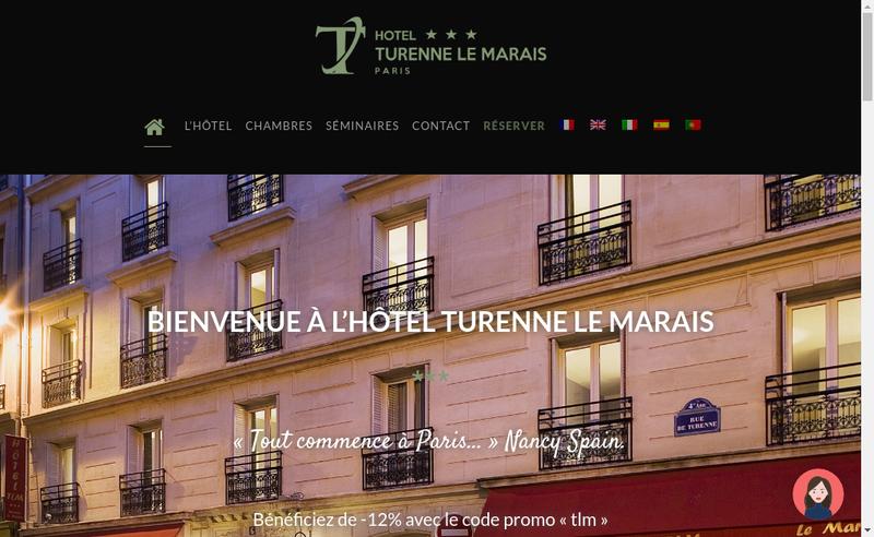 Capture d'écran du site de Turenne le Marais