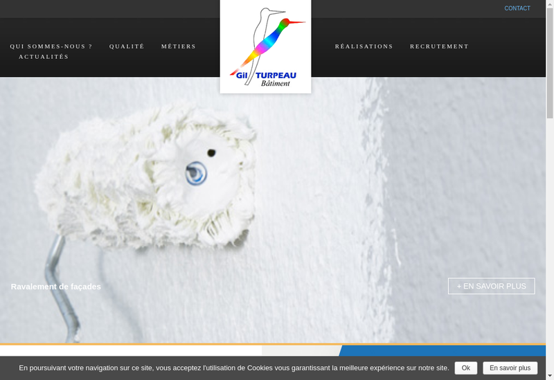 Capture d'écran du site de GTB