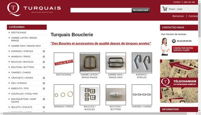 Site internet de Turquais Bouclerie