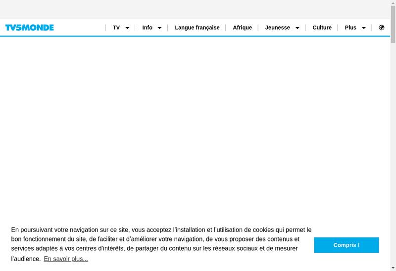 Capture d'écran du site de TV 5