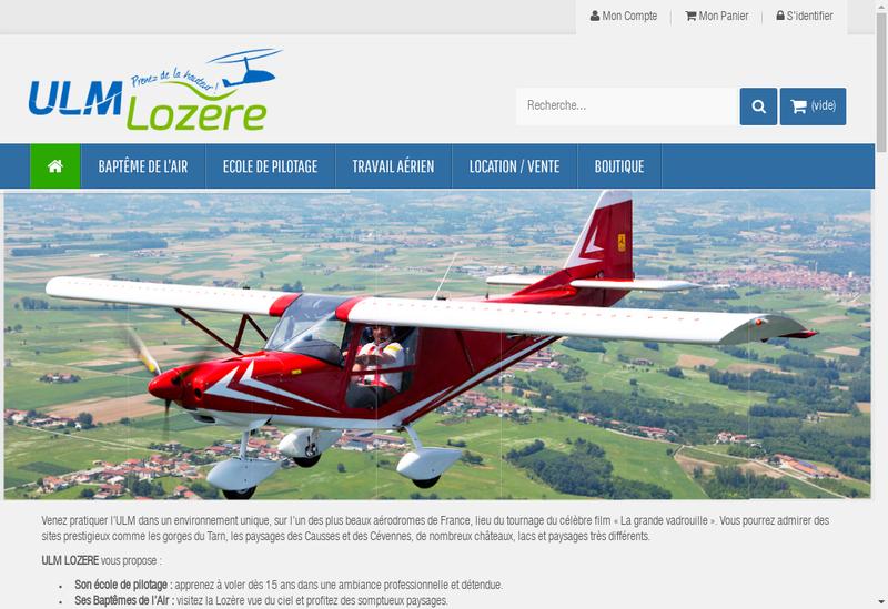 Capture d'écran du site de Ulm Lozere