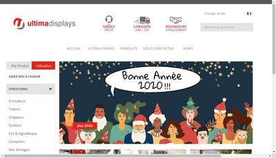 Site internet de Ultima Displays France