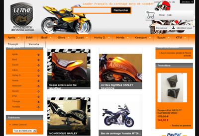 Capture d'écran du site de Ultime Concept
