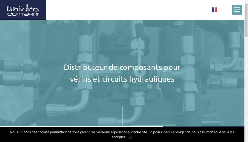 Capture d'écran du site de Unidro Contarini