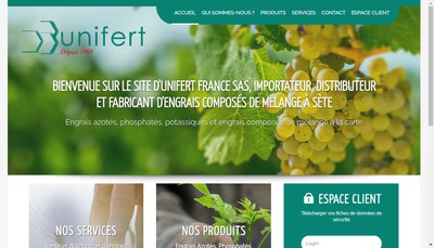Site internet de Unifert France SA