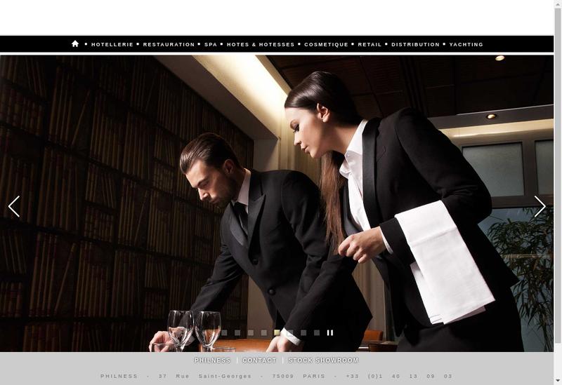 Capture d'écran du site de Philness