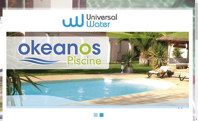 Capture d'écran du site de Universal Water