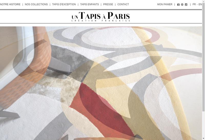 Capture d'écran du site de Un Tapis à Paris
