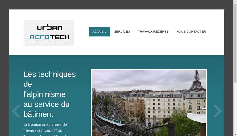 Capture d'écran du site de Urban Acrotech Travaux Acces Difficile