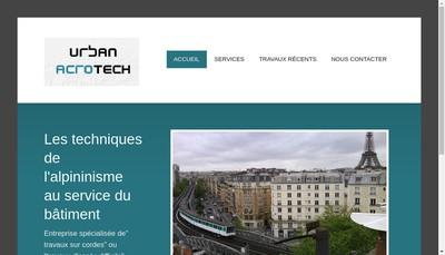 Site internet de Urban Acrotech-Travaux d'Acces Difficile-Entretien des Batiments