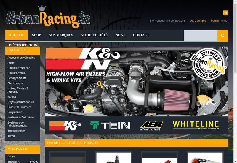 Capture d'écran du site de Urban Racing