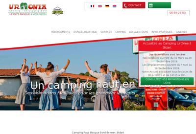 Capture d'écran du site de Societe Exploitation Camping Uronea