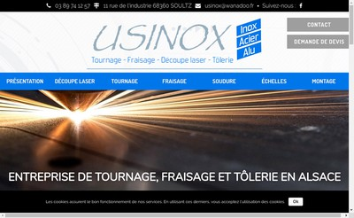 Site internet de Usinox