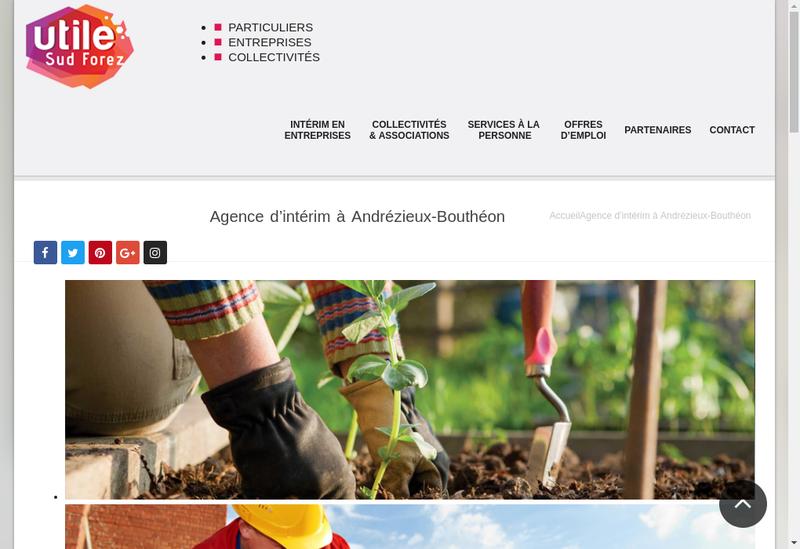 Capture d'écran du site de Utile Sud Forez