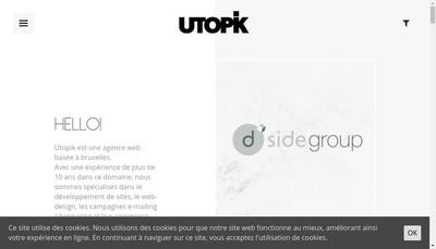 Site internet de Utopik