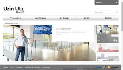 Site internet de Uzin Utz France SAS