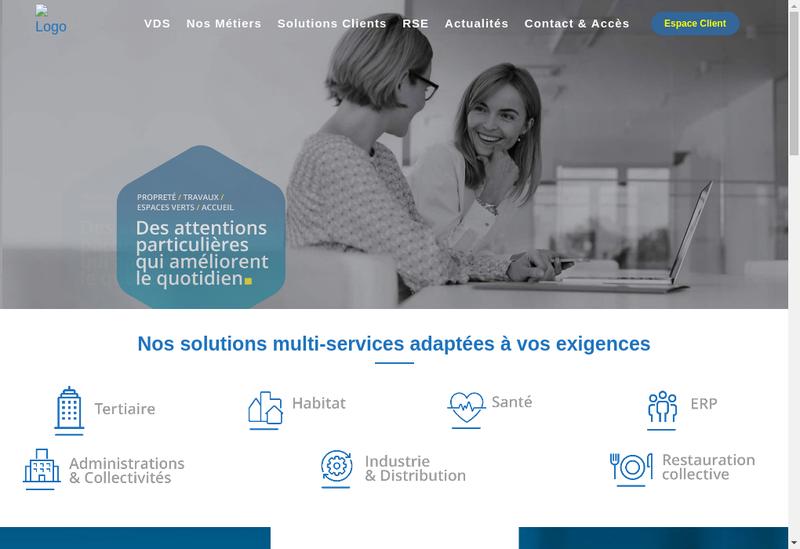 Capture d'écran du site de Verde Distribution Services