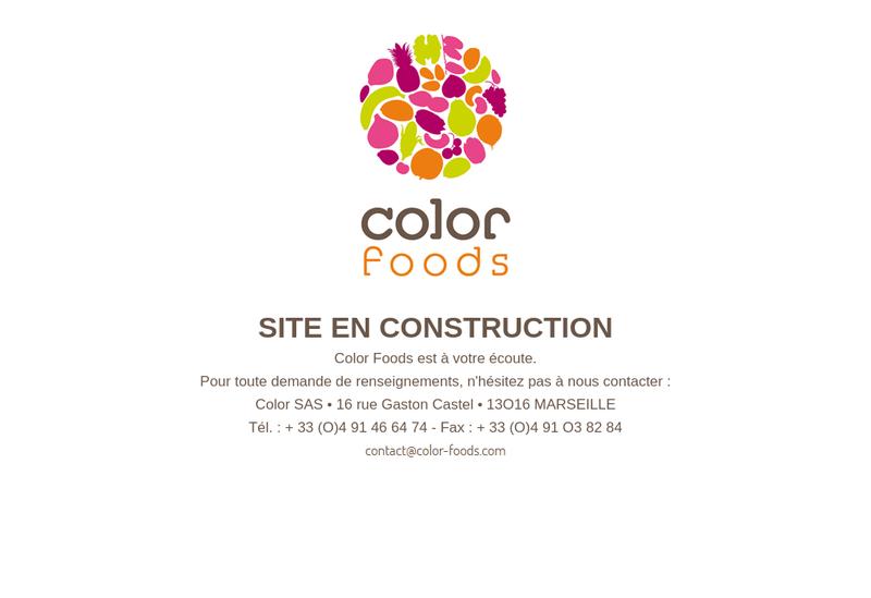 Capture d'écran du site de Color