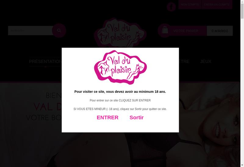 Capture d'écran du site de Val du Plaisir