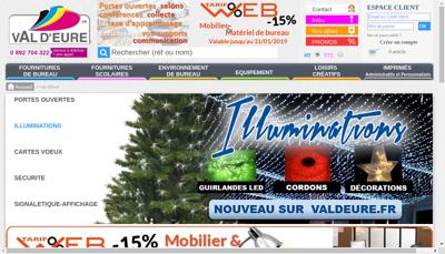 Capture d'écran du site de Papeterie de Val d'Eure
