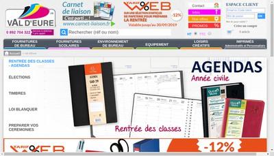 Site internet de Papeterie de Val d'Eure