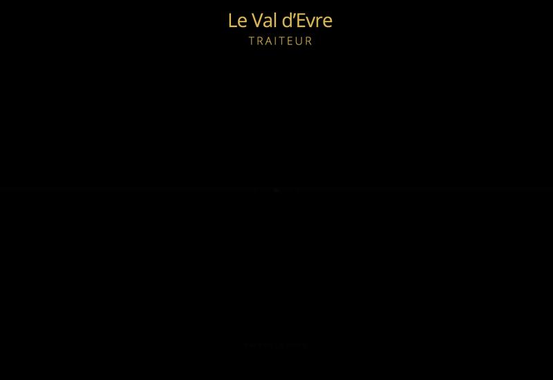 Site internet de Le Val d'Evre Traiteur