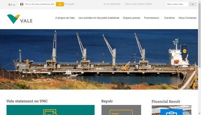 Site internet de Vale Nouvelle-Caledonie SAS