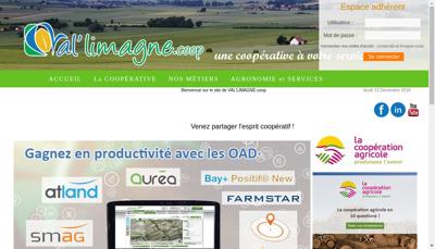 Capture d'écran du site de Val Limagne Coop