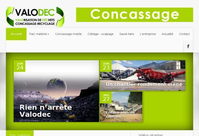 Capture d'écran du site de Valodec