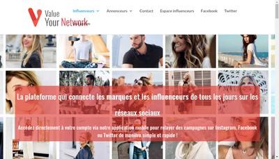 Site internet de Value Your Network