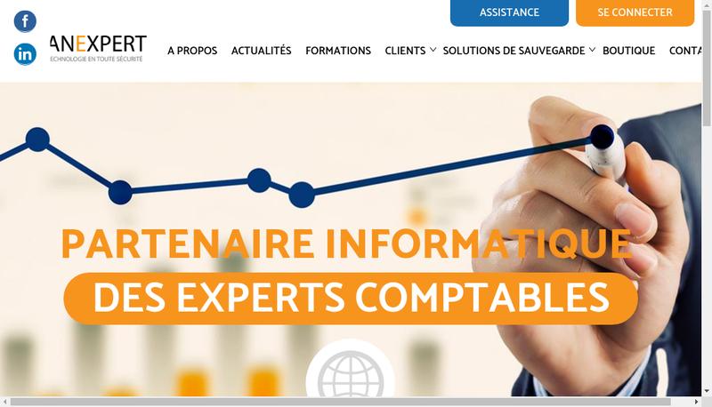 Capture d'écran du site de Vanexpert