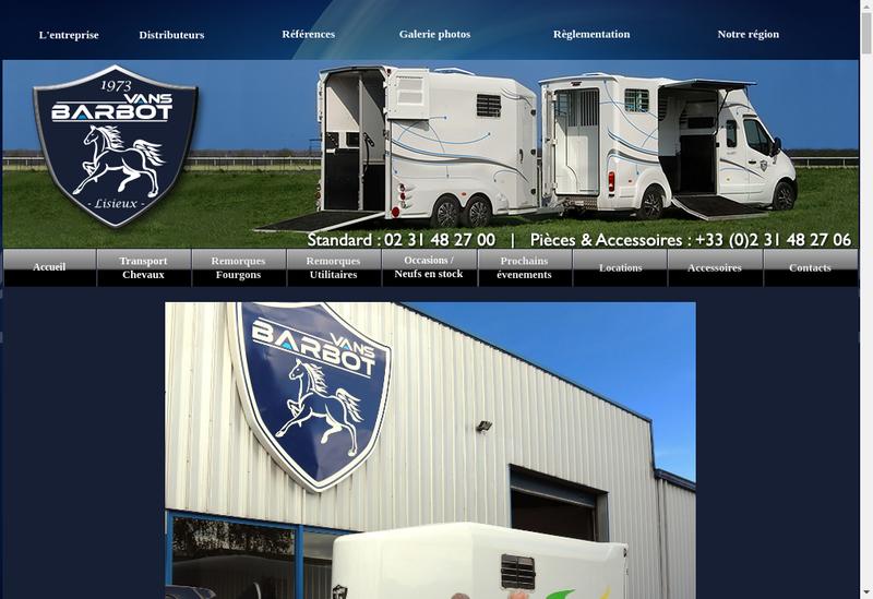 Capture d'écran du site de Barbot