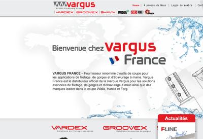 Capture d'écran du site de Vargus France