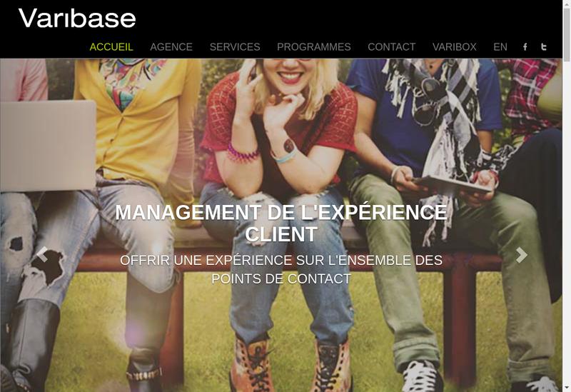 Capture d'écran du site de Jack Russell