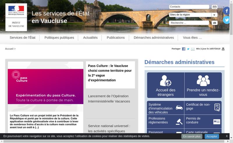 Capture d'écran du site de Vaucluse Taxi